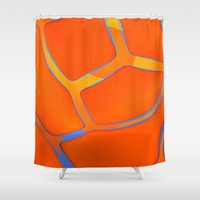 Nothing Rhymes With Orange Shower Curtain