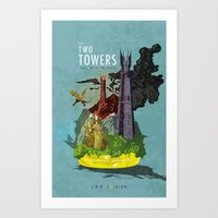 The Two Towers Art Print