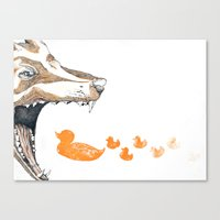 Fox vs. Duck Canvas Print