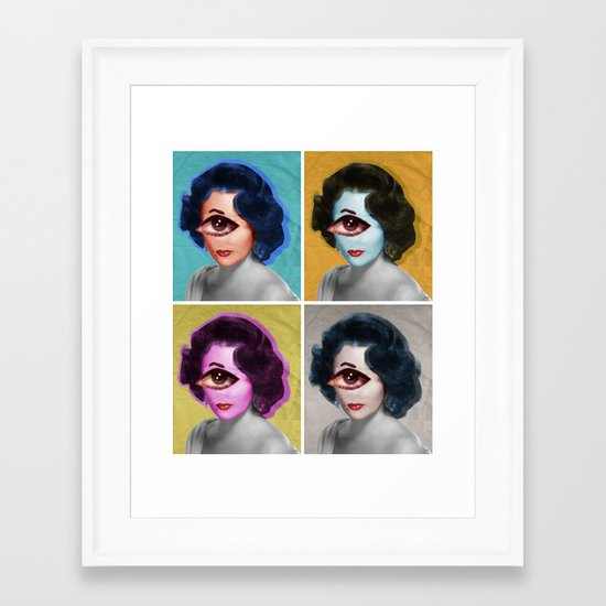 LizT Mix Collage x4 Framed Art Print