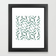 Framed Art Print featuring Blue Branches. by Julia Badeeva