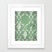 In which a fish frees itself (green option) Framed Art Print