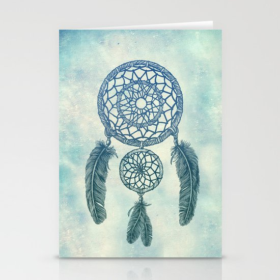 Double Dream Catcher Stationery Card