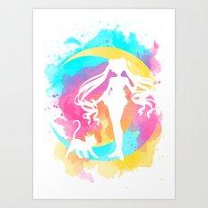 Happy Guardian Sailor Moon Art Print
