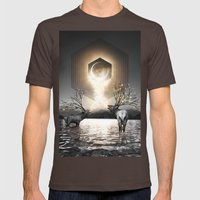 Moon Dust In Your Lungs Mens Fitted Tee Brown SMALL