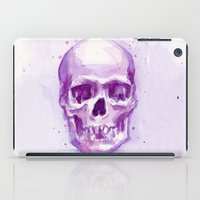 Pink Skull Watercolor iPad Case