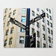 Broadway Meets Wall Street Canvas Print