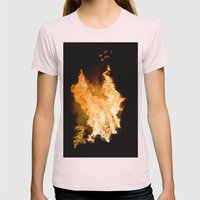 Face In The Flames Womens Fitted Tee Light Pink SMALL
