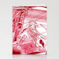 Midnight Blossom / Origi… Stationery Cards