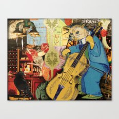 Distarcted Busker Canvas Print