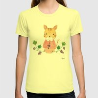 Cat&Grape Womens Fitted Tee Lemon SMALL