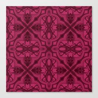 Dotted Tile: Wine-berry  Canvas Print