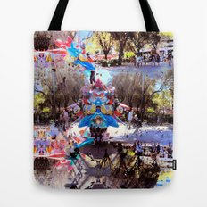 Summer space, smelting selves, simmer shimmers. [extra, 8] Tote Bag
