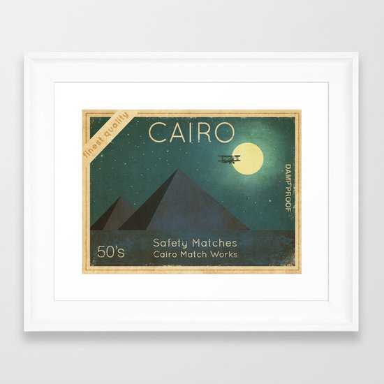 Cairo Safety Matches  Framed Art Print