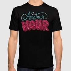 Amateur Hour SMALL Black Mens Fitted Tee