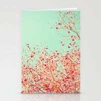 Little dots of red Stationery Cards