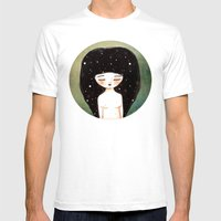 I Am The Cosmos Mens Fitted Tee White SMALL