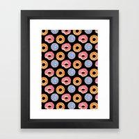 sweet things: doughnuts (black) Framed Art Print