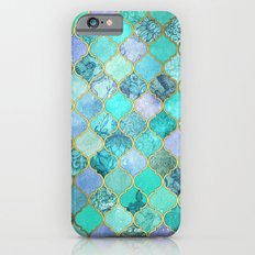Cool Jade & Icy Mint Decorative Moroccan Tile Pattern iPhone 6 Slim Case