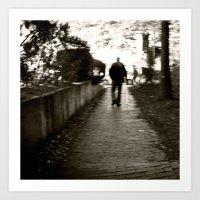 Man On Path I Saw One Af… Art Print
