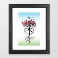 Árbol - 木 - Tree Framed Art Print