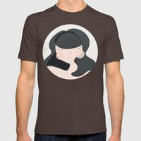 Girl Mens Fitted Tee Brown SMALL
