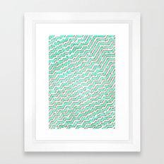 Ruby Stairs Framed Art Print