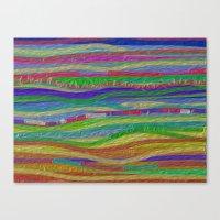 Stripes Along Canvas Print
