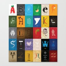 Meagan's Movie Alphabet Set One Canvas Print