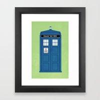 DOCTOR WHO. Framed Art Print