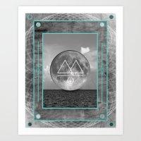 Oceano.Luna Art Print