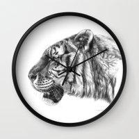 Tiger profile G077 Wall Clock