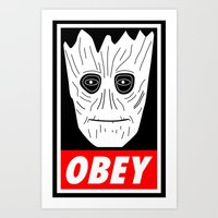 OBEY GROOT - GUARDIANS O… Art Print