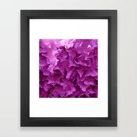 through the purple hydrangea Framed Art Print