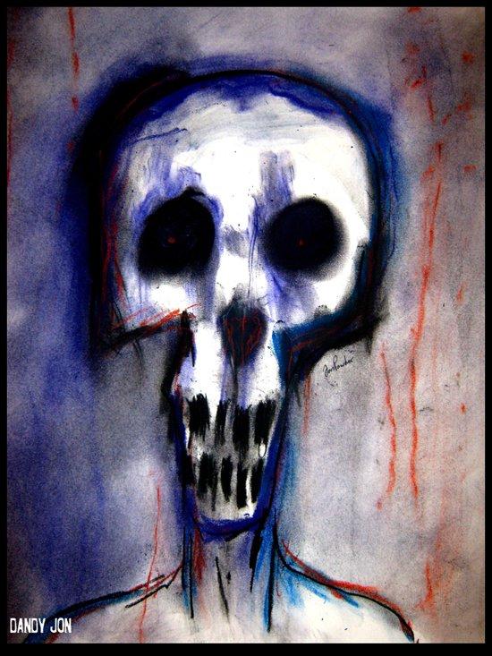Grimly Art Print