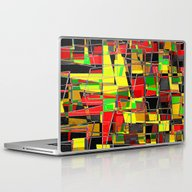 Laptop & iPad Skin featuring Qr Code Pinched by David Mark Lane