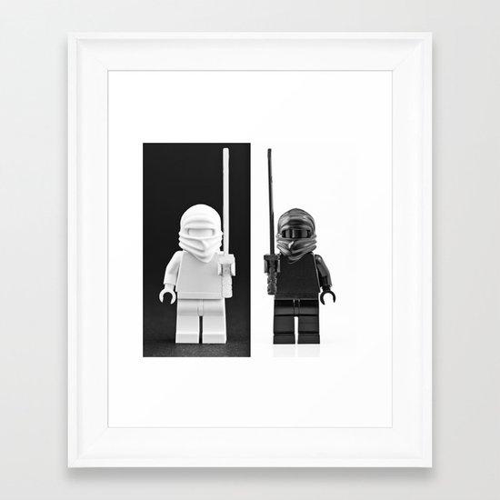 An exercise in Black and White Framed Art Print