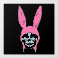 Grey Rabbit/Pink Ears Canvas Print