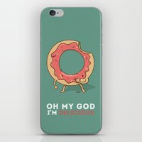 Oh my god, i'm delicious! iPhone & iPod Skin