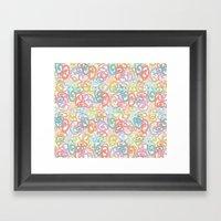 Colored pattern Framed Art Print