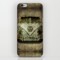 Classic VW  micro bus with battle scars and a distressed patina iPhone & iPod Skin
