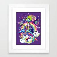 Rainbow Apocalypse Framed Art Print