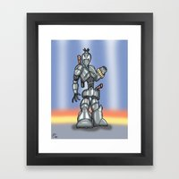 Robot Series - Assassin Model Framed Art Print