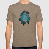 Broken Mens Fitted Tee Tri-Coffee SMALL