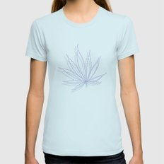 weed Womens Fitted Tee Light Blue SMALL