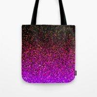 Pink Glitter Sparkle Gradient Tote Bag
