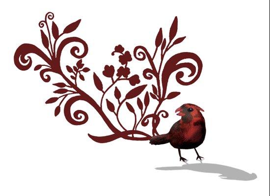 Swirly Bird Canvas Print