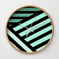 STRIPED {MINT} Wall Clock