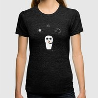 The Happy Ice Cream Womens Fitted Tee Tri-Black SMALL