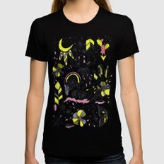 Colorful flash sheet Womens Fitted Tee Black SMALL